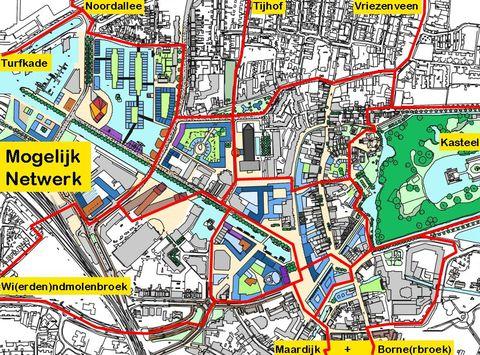Ons voorstel voor fietsverbindingen in de binnenstad
