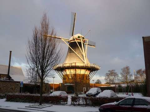 Molen de Hoop in de Winter