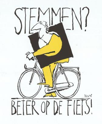 Stemmen op de fiets