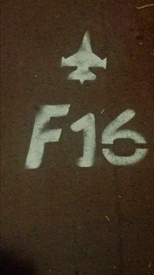 bewegwijzering van de F16