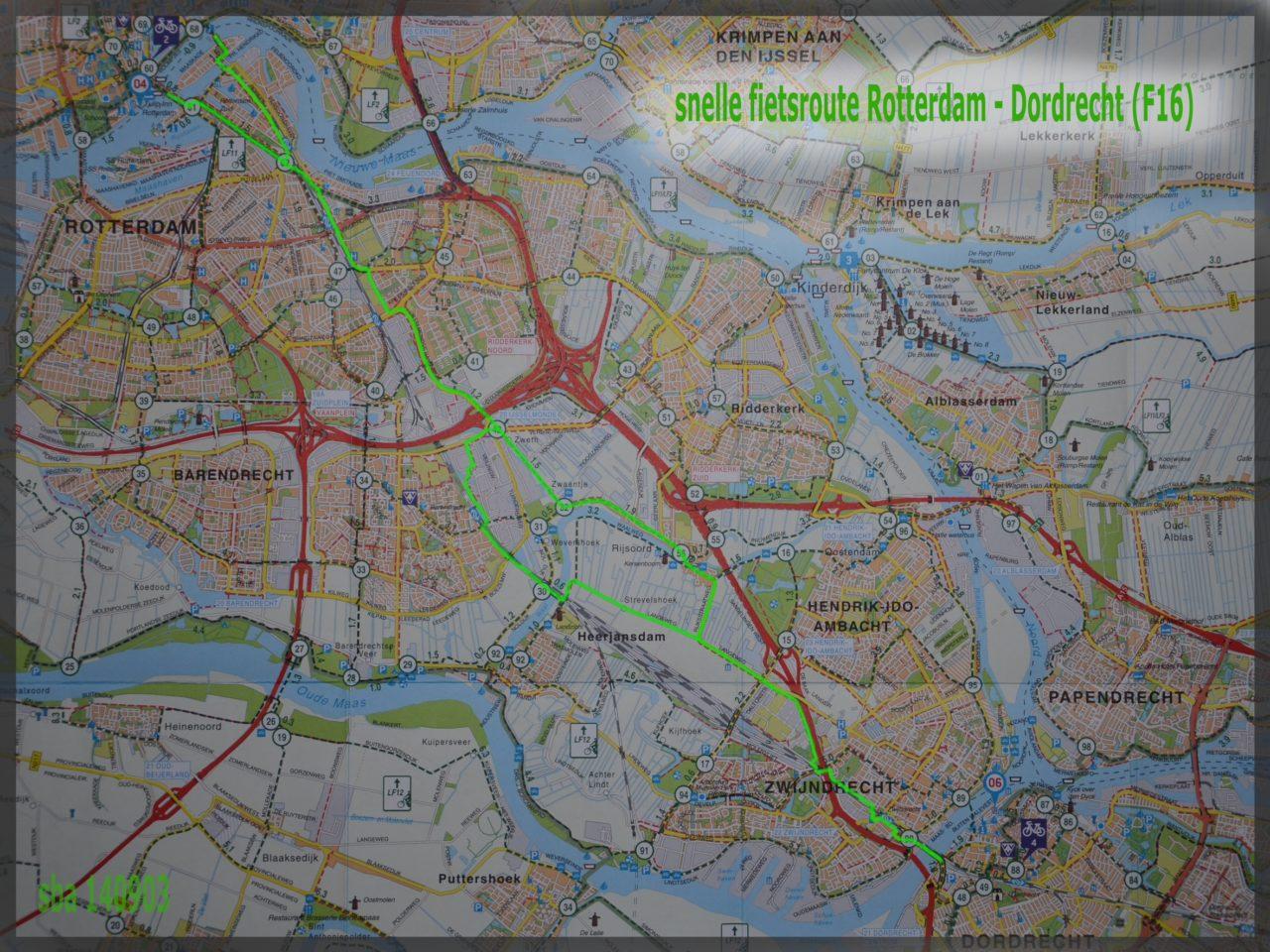 kaart_snelle_fietsroute_Rotterdam_-_Dordrecht_F161