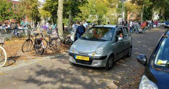 fietsberaad kinderen auto naar school