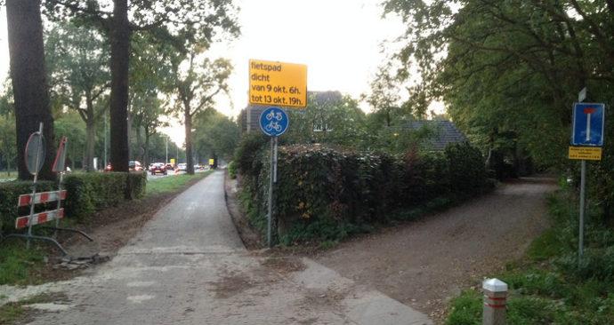 'Levensgevaarlijke' fietspaden naast N65 van Vught naar Helvoirt in het nieuw