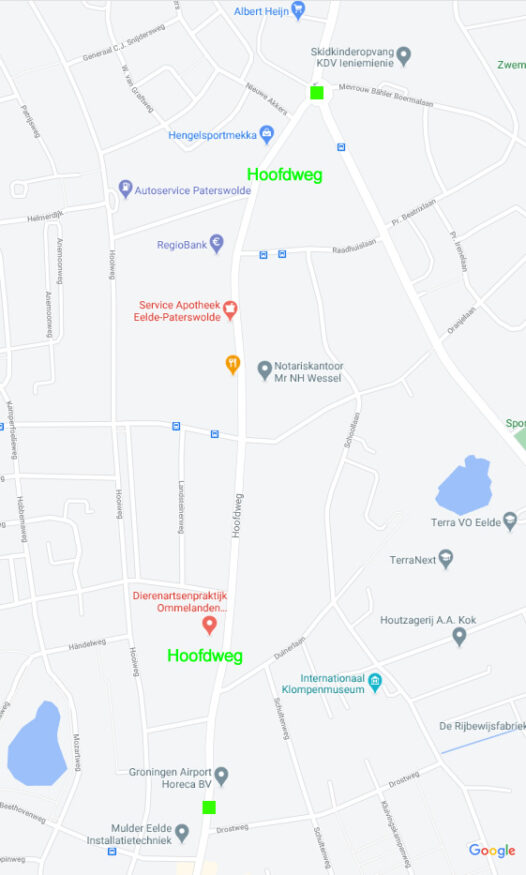 hoofdweg eelde plaatje Google maps