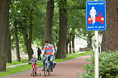 Fietsstraat in Zwolle