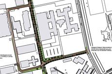 Tekening inrichtingsplan ruimte rondom zwembad De Vrolijkheid Zwolle