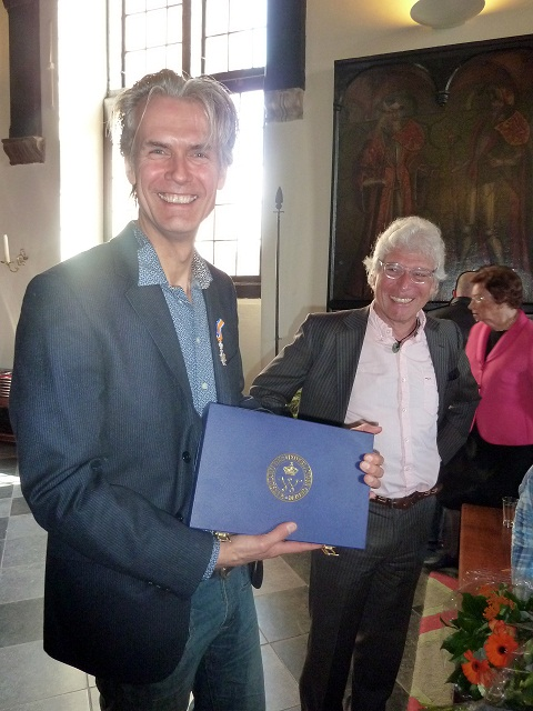 27 april 2012 Ridderorede voor Jaap Moerman