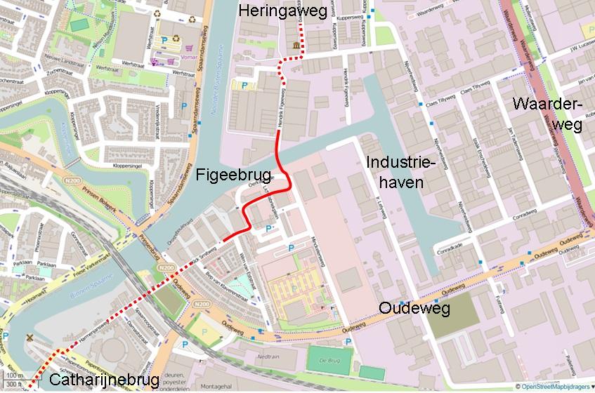 2015-05_Figeebrug_fietsverbindingsbrug_Waarderpolder_met_de_stad