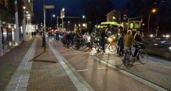 Het is hier overvol en gevaarlijk voor fietsers