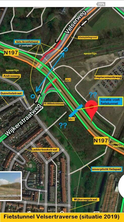 VE-Fietstunnel Velsertraverse-bestaande situatie augustus 2019 (1)