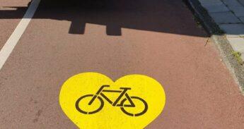 Gele_harten_fietspad