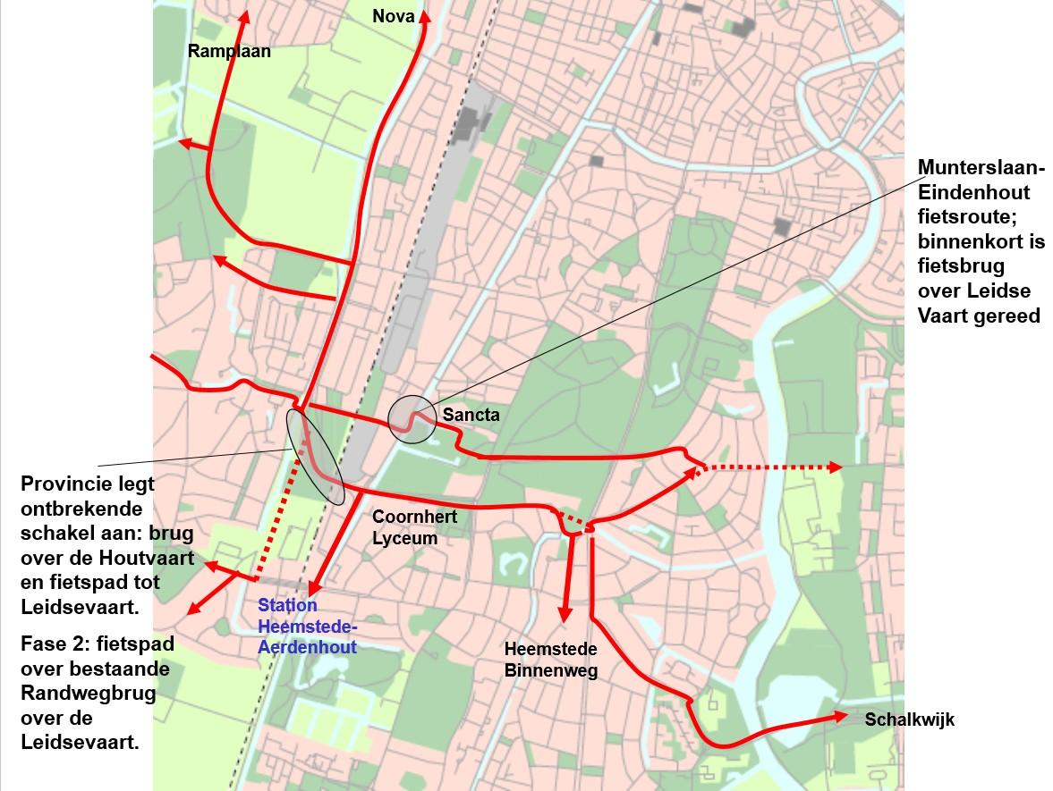 Fietsroutes ten noorden en zuiden van de Randweg -v2 (Vogelpark)