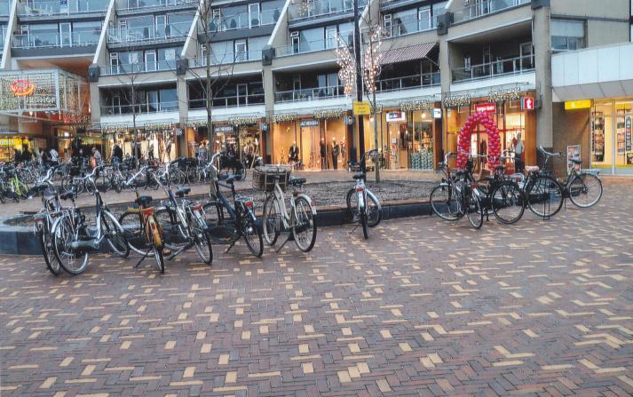 gezond fietsen naar de winkel