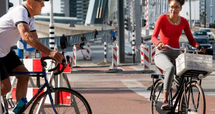 Nederland, Rotterdam, 16-9-2016. Foto Maarten Hartman. Fietsen