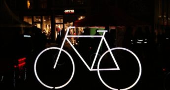 Verlichte fiets