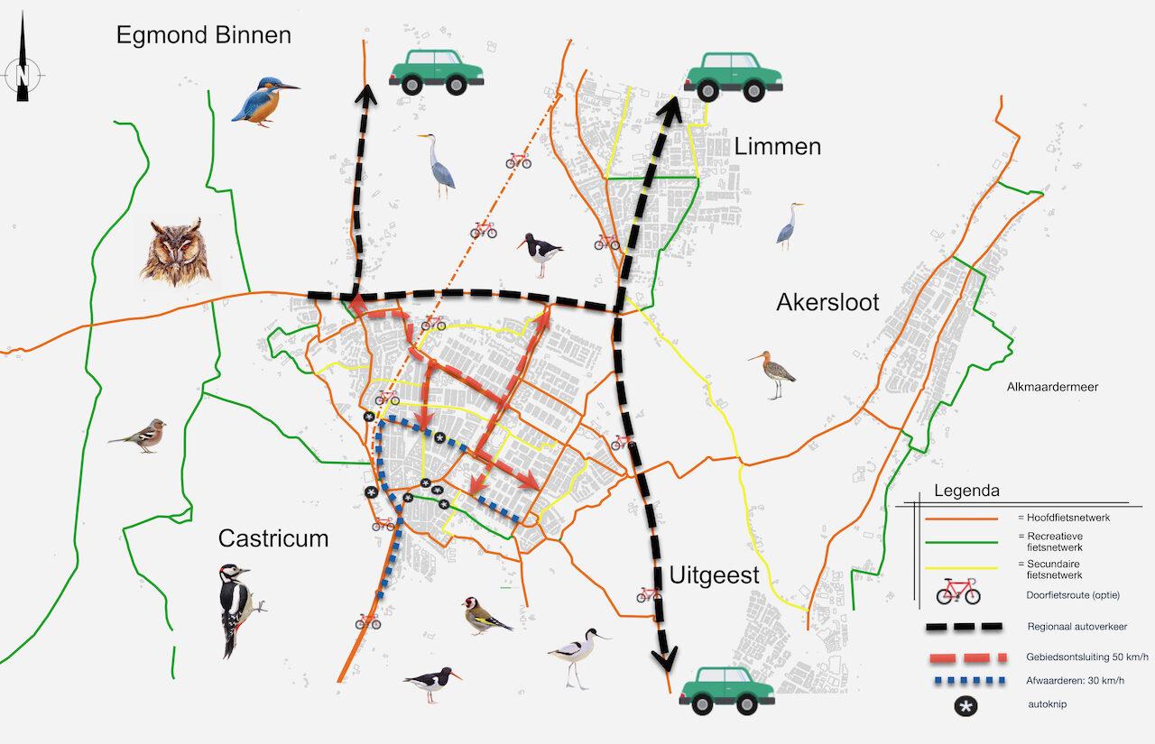 Fietsnetwerk met Verkeersplan Fietsersbond