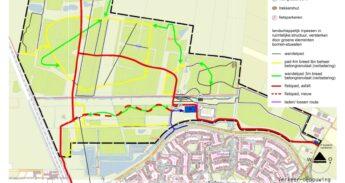 kaart verbetering fietsbereikbaarheid Nw Wulven