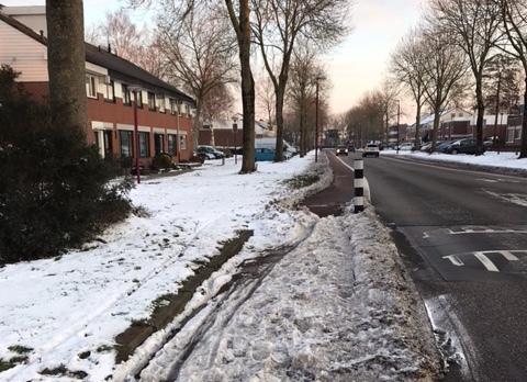 sneeuw Batauweg