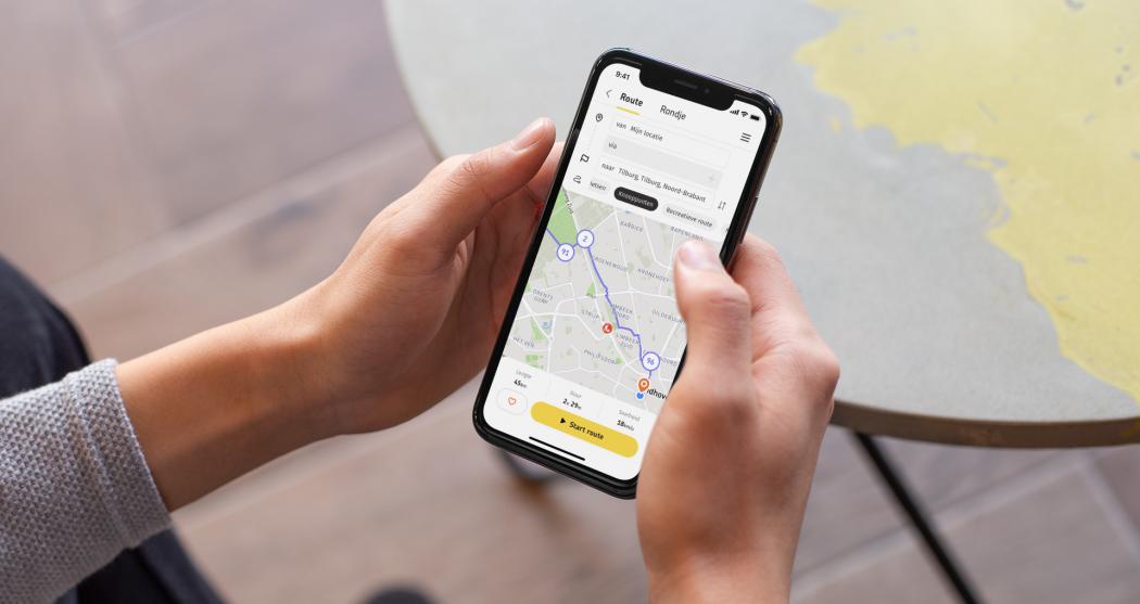Routeplanner-app in hand 2 kopie
