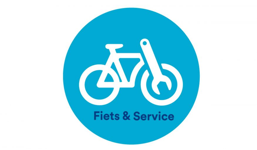 fiets en service zonder witruimte