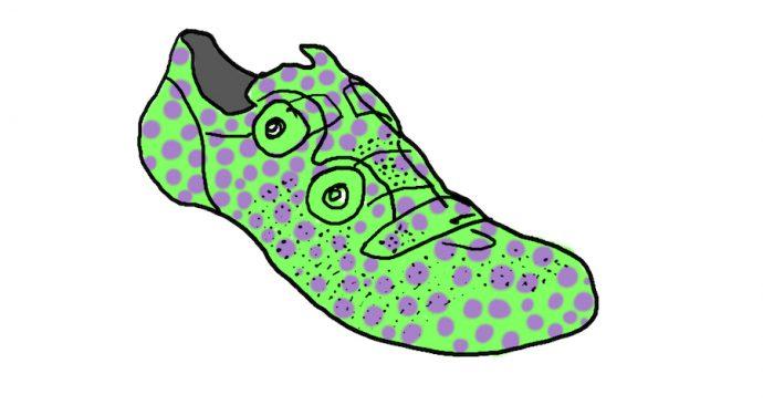 Groenpaarse fietsschoen