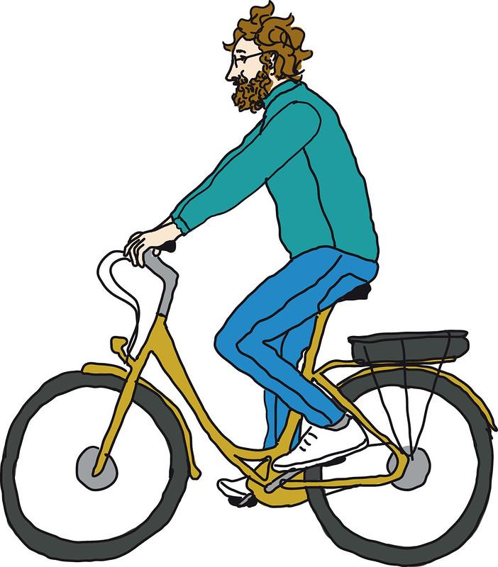 fietshouding lichtjes voorover