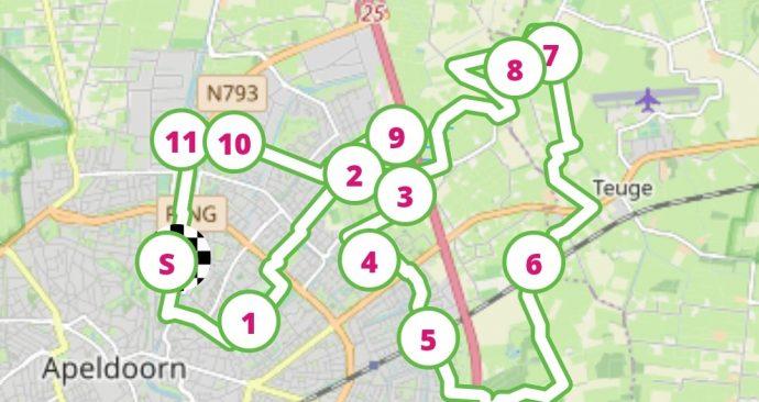 Route fietstocht IVN