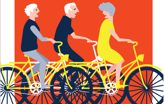 Knipsel Samen op de fiets