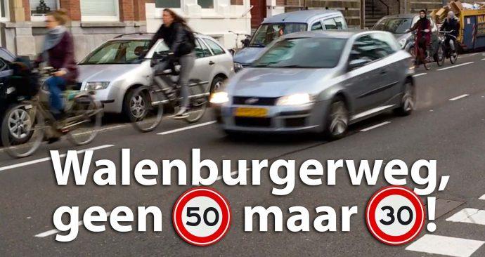 Walenburgerweg, geen 50 maar 30!